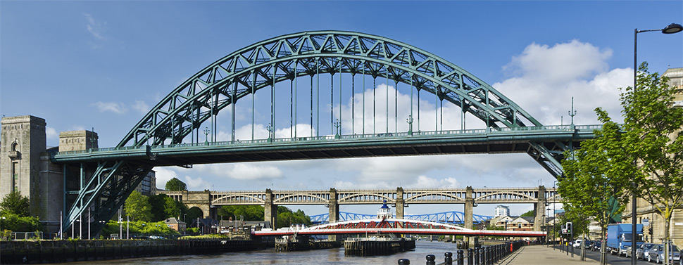 An image of the Tyne bridge